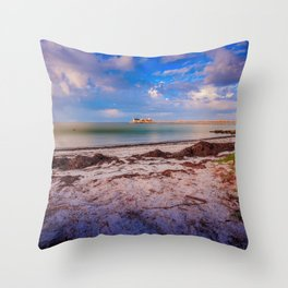 City Pier on Anna Maria Island Throw Pillow