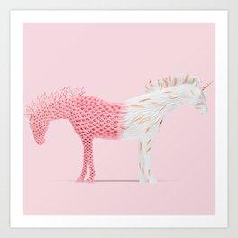 Double-natured unicorn Art Print
