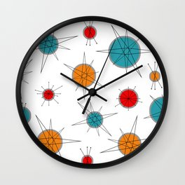 Atomic Age Colorful Planets Wall Clock