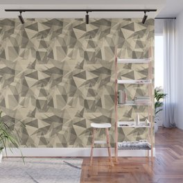 Abstract Geometrical Triangle Patterns 3 Valspar America Wood Yellow - Homey Cream - Glow Home Wall Mural
