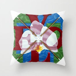 Orchid Love Letters Throw Pillow