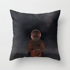marooned astronaut Throw Pillow