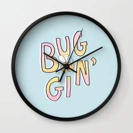 Totally Buggin' Wall Clock