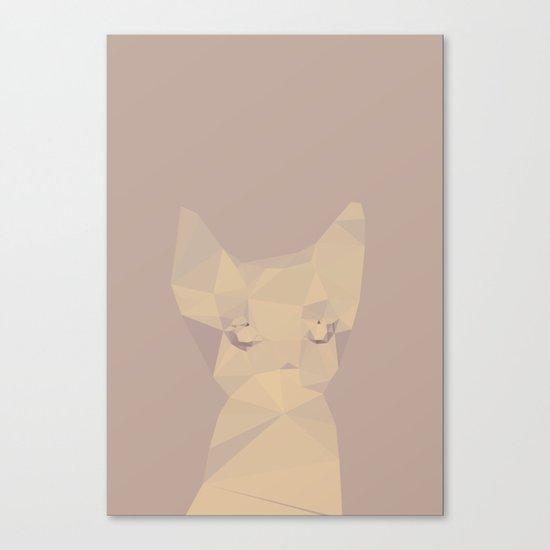 Cut fragments Cat Canvas Print
