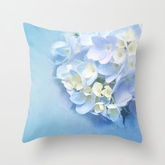 BABY BLUE FLOWER DREAM Throw Pillow