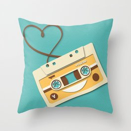 Memory Tape Throw Pillow