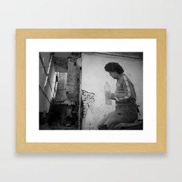 Maradona - Napoli - Italia Framed Art Print