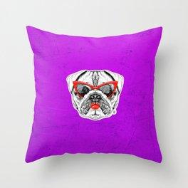 Lady Pug Throw Pillow
