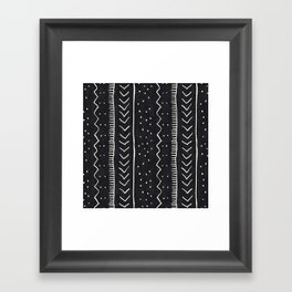 Moroccan Stripe in Black and White Framed Art Print