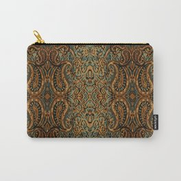 vintage persian fabric with Golden paisley Carry-All Pouch