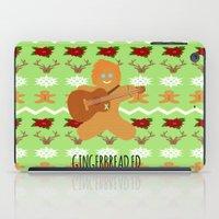 ed sheeran iPad Cases featuring Gingerbread Ed II by Laura Maria Designs