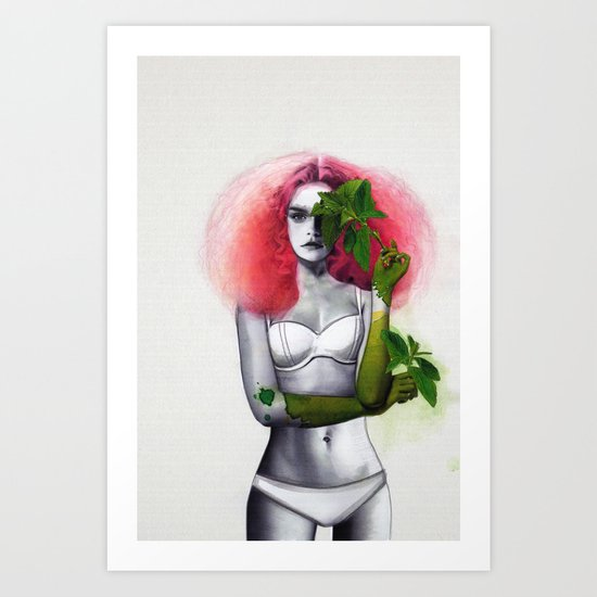 Garden Girls 3 - Mint Art Print