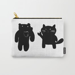 Bear and Cat Carry-All Pouch