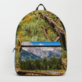 Grand Teton National Park Fence Line Rustic Print Backpack