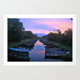 Early Morning at the Boat park Art Print