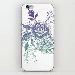 Mandala Floral - Teal to Purple Palette iPhone Skin
