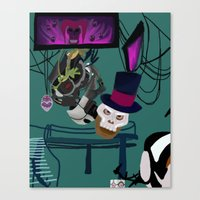 glados Canvas Prints featuring Princess and the Portal  by Katá Mart