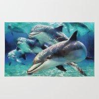 dolphin Area & Throw Rugs featuring Dolphin by A.Aenska-Cholpanova
