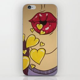 Yellow Kisses iPhone Skin