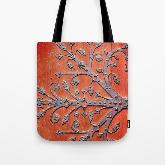 Gothic Red Door Tote Bag