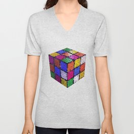 The color cube Unisex V-Neck