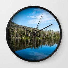 Yellowstone Reflective Lake Wall Clock