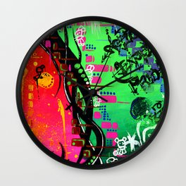 """ACTION EXPRESSES PRIORITIES"" Wall Clock"