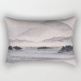 Utagawa Hiroshige - Fuji Marsh, Suruga province Rectangular Pillow
