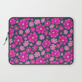 1970s-inspired Springtime Cosmos Floral Laptop Sleeve