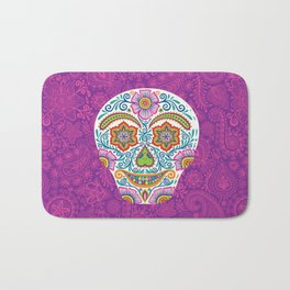 Flower Power Skully Bath Mat
