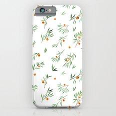 orange - subtle pattern iPhone 6 Slim Case