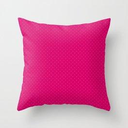 Extra Small Light Hot Pink Polka Dots on Dark Hot Pink Throw Pillow