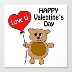 Love U Valentine's Day Canvas Print