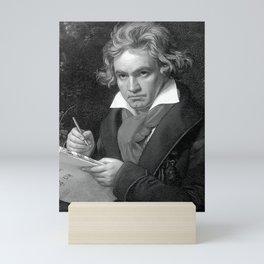 Beethoven - halftone Mini Art Print
