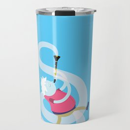Make it up as you go along - blue Travel Mug