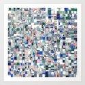 Geometric Grid of Colors by perkinsdesigns