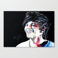 louis tomlinson Canvas Prints featuring Louis Tomlinson by Mimirainb0w