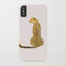 Cheetah Back Looking Left iPhone Case