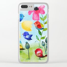 Garden Party Clear iPhone Case
