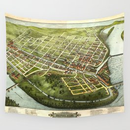 Bird's Eye View of Holyoke, Massachusetts (1877) Wall Tapestry