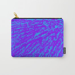 Purple Blue Abstract Carry-All Pouch
