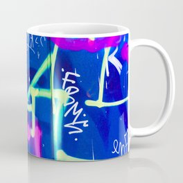 Blue Mood with Pink Language Coffee Mug