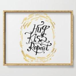 Hug Kiss Repeat Serving Tray