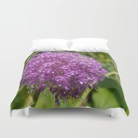 globe Duvet Covers featuring Blue Globe by Christiane W. Schulze Art and Photograph
