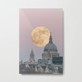 Super moon behind St Paul's Cathedral Metal Print