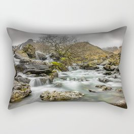 Lone Tree On The River Rectangular Pillow