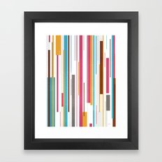 Geometric Rain 2 Framed Art Print
