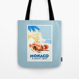 Grand Prix Monaco 1937 Tote Bag