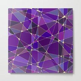 Constellation Purple Metal Print