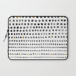 Black Dots II Laptop Sleeve